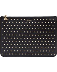 Alexander McQueen Black And Gold Studded Pouch