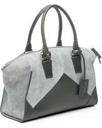 Narciso Rodriguez Clarie Small Tote Greycharcoal - Lyst