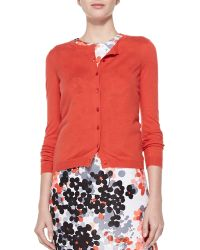 RED Valentino Cashmere-Silk Cropped Cardigan - Lyst