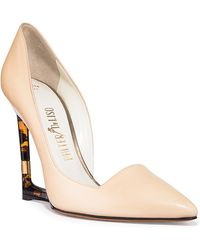 Palter Deliso | Aster Pump With Tortoise Cut-out Wedge Heel | Lyst