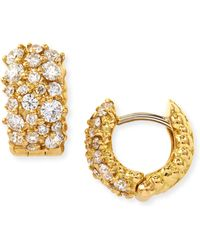 Paul Morelli - Small White Diamond Confetti Hoop Earrings - Lyst