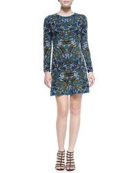 M Missoni Marble Jacquard Long Sleeve Dress - Lyst