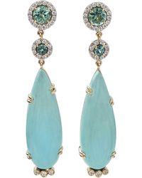 Pamela Huizenga - Turquoise And Tourmaline Earrings - Lyst