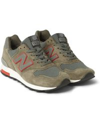 New Balance Suede and Mesh Sneakers - Lyst