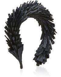 Gigi Burris Millinery Rafia Hair Band - Black