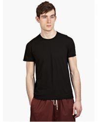 DRKSHDW by Rick Owens Men'S Black Cotton T-Shirt black - Lyst