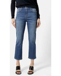 Topshop Moto 'Dree' High Rise Crop Jeans blue - Lyst