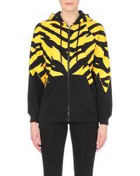 Moschino Cheap & Chic Animal-print Cotton-jersey Hoody - Lyst
