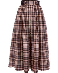 Victor Xenia London - Olia Skirt Navy & Peach - Lyst