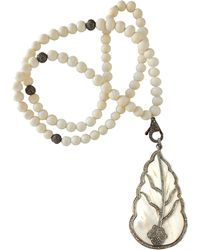 CB Bronfman - Feather Bead Necklace - Lyst