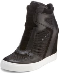 DKNY Grand Wedge Sneaker - Lyst