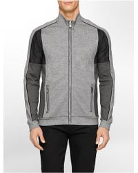Calvin Klein White Label Premium Slim Fit Colorblock Mesh Zip Front Jacket - Lyst