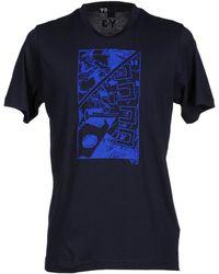 Y-3 T-Shirt blue - Lyst