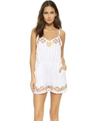 Rahicali - Embroidered Romper - Lyst