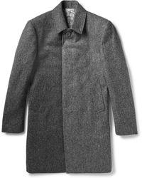 Thom Browne Herringbone Wool-tweed Overcoat - Lyst