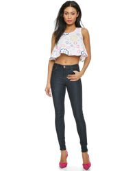 House of Holland Trapeze Top - White - Lyst