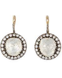 Munnu - Diamond Drop Earrings - Lyst
