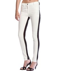 Nicole Miller | Skinny Combo Pant | Lyst