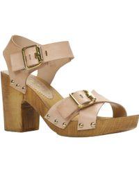 Aldo Prealia Block Heel Strappy Sandals - Lyst