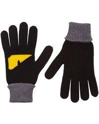 Fendi - Monster Eyes Wool Gloves - Lyst