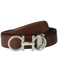 Ferragamo Double Adjustable Gancino Calf Belt  - Lyst