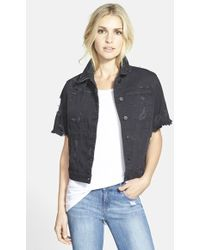 Genetic Los Angeles 'Blondie' Distressed Denim Jacket - Lyst