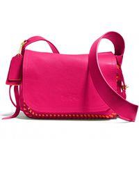Coach Dakotah 21 Whipstitched Crossbody Bag pink - Lyst