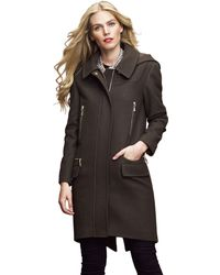 Vince Camuto Hooded Oversized Coat - Lyst