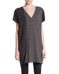 Costume National Asymmetrical Dashed Diamond-Print Tunic - Lyst