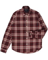 Paul Smith Burgundy Plaid Brushed-Cotton Shirt red - Lyst