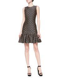 Michael Kors Drop-waist Sheath Dress with Ruffle Skirt - Lyst