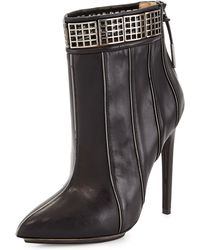 L.A.M.B. Troy Leather Ankle Boot - Lyst