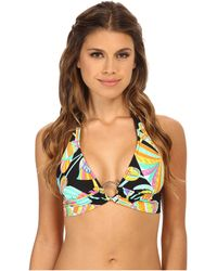 Trina Turk Tahitian Floral Ring Front Halter multicolor - Lyst