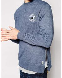 Firetrap Side Zip Sweater - Blue
