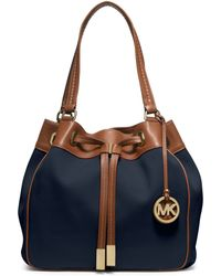 Michael Kors Marina Large Canvas Drawstring Tote Lyst
