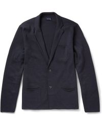 Lanvin Merino Wool and Cotton Blend Cardigan - Lyst