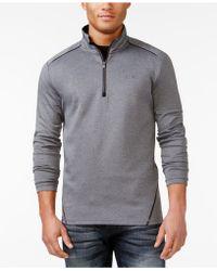 Calvin Klein   Quarter Zip Stretch Interlock Sweatshirt   Lyst