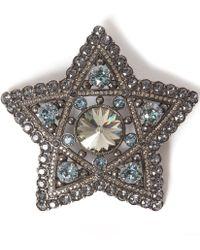 Lanvin Silver-tone Elise Crystal Star Brooch - Metallic