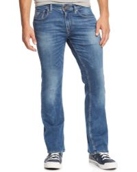 Guess Bootcut Folsom Blues-Wash Jeans - Lyst