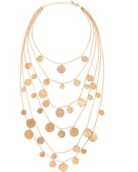 Piper Strand Hammered Gold Coin Layering Necklace - Lyst