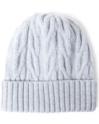 John Smedley - Grey Peak Cable Knit Wool And Cashmere-blend Beanie - Lyst