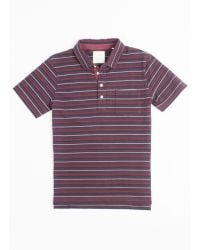 Billy Reid Pensacola Polo red - Lyst