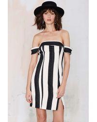 Nasty Gal Line & Dot Equilibrium Striped Dress - Lyst