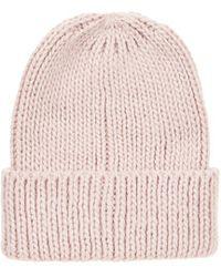 Topshop Pink Fisherman Beanie - Lyst