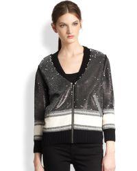 Sachin & Babi Calia Sequin Stripe Jacket - Lyst