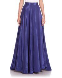 Nha Khanh Angie Faille Long Skirt - Blue