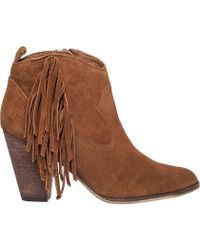 Steve Madden | Ohio Suede Fringed Boots | Lyst