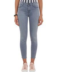 J Brand Cropped Fivepocket Jeans - Lyst