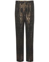Etro Silk-Blend Crepe Trousers - Lyst