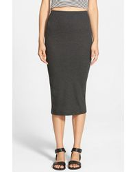 The Hanger - Ribbed Midi Skirt - Lyst